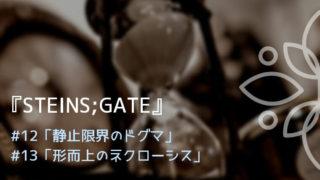 『シュタインズ・ゲート』第12、13話