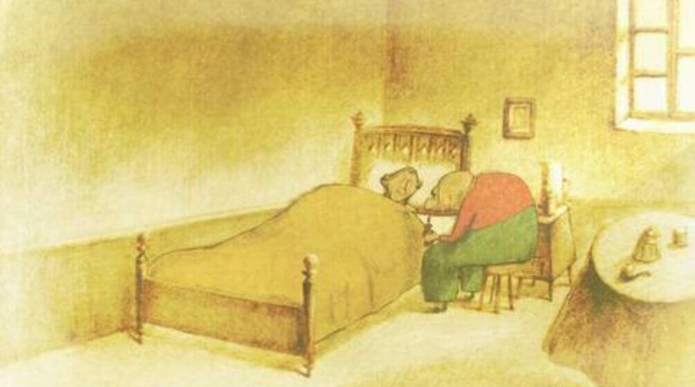妻を看病するお爺さん